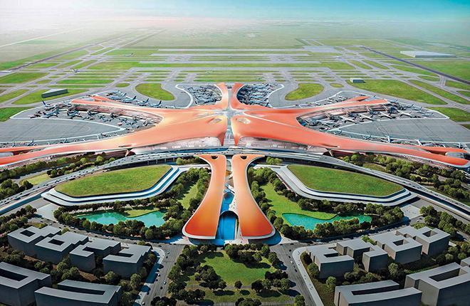 Новый авиаузел Пекина принял первый пассажирский самолет